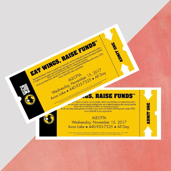 buffalo wild wings alecpta fundraiser event ticket