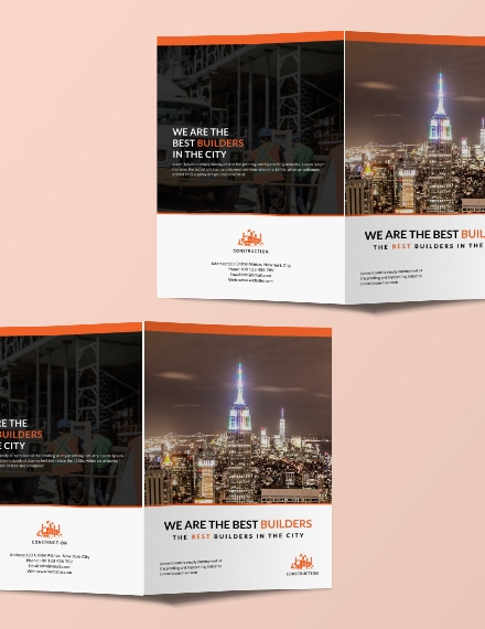 building construction brochure design