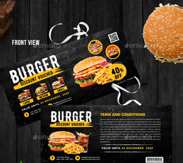 burger dinner voucher example2