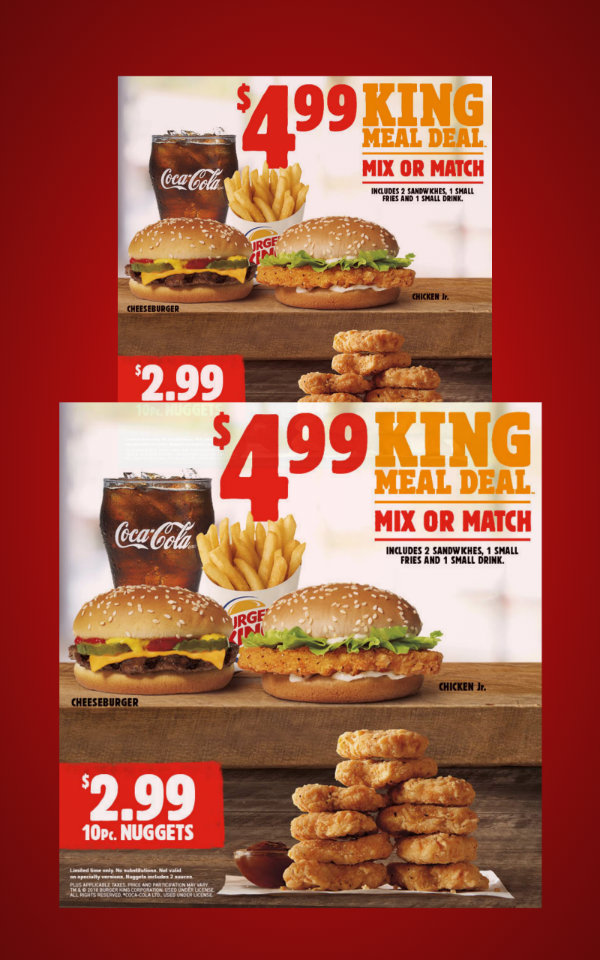 burger king special offer flyer