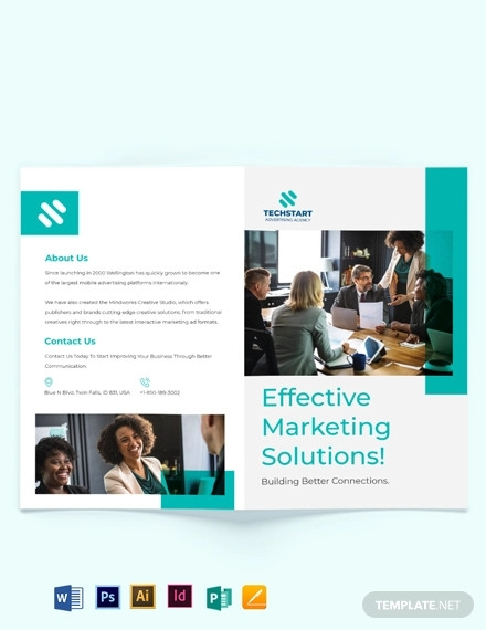 business advertising bi fold brochure template