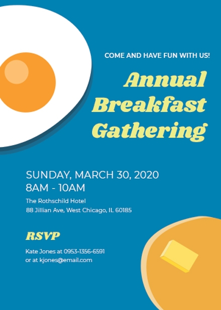 business breakfast invitation template