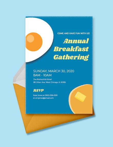 business breakfast invitation