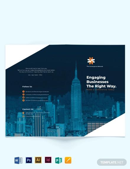 business company profile bi fold brochure template