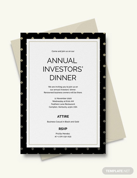 business dinner invitation example