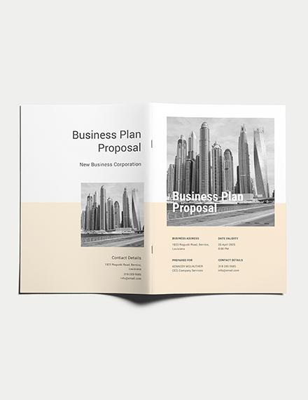 business plan proposal template
