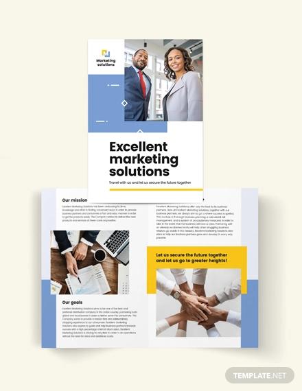 business proposal bi fold brochure template