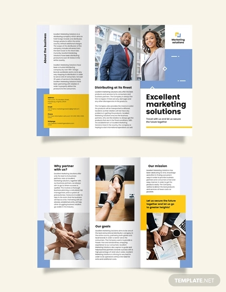 business proposal tri fold brochure template