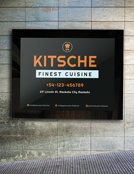business sign template