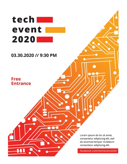 Business Tech Event Poster Design