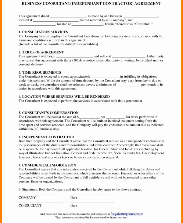 business training consultant contract template example1