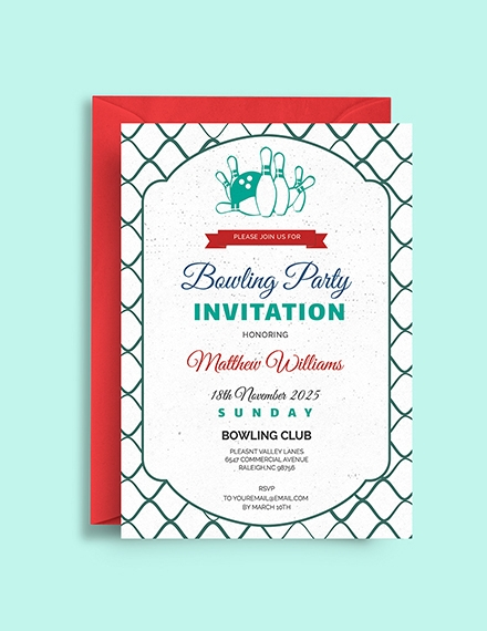business or corporate bowling invitation template