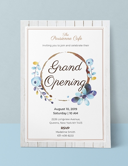 cafe opening ceremony invitation sample