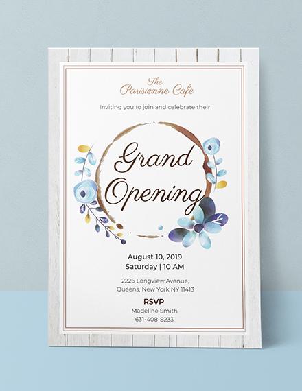 cafe opening ceremony invitation