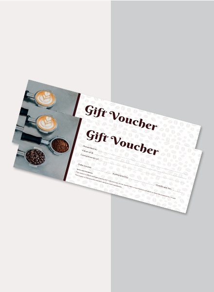 cafe voucher design