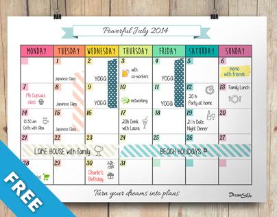 Calendar Monthly Planner Example