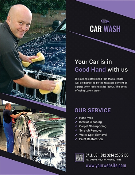 car wash agency flyer design