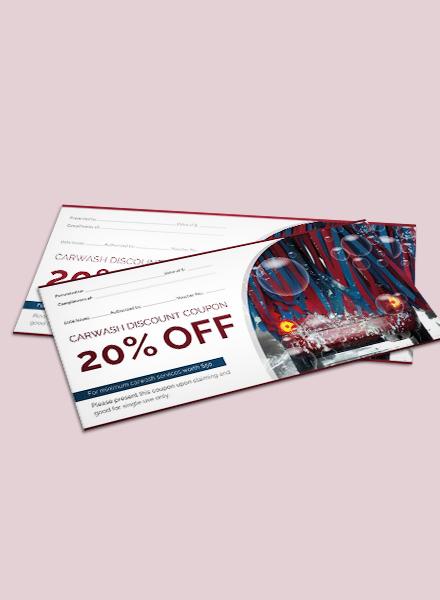 car wash discount voucher template