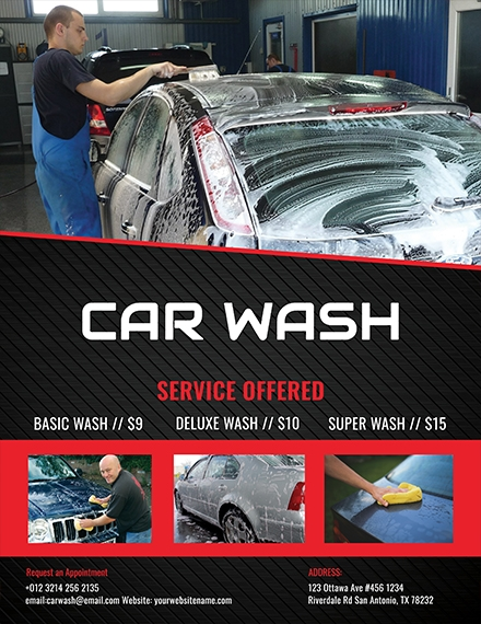 car wash flyer sample