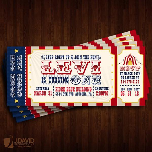 carnival birthday invitation ticket example1