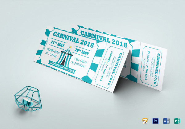 carnival event invitation ticket template