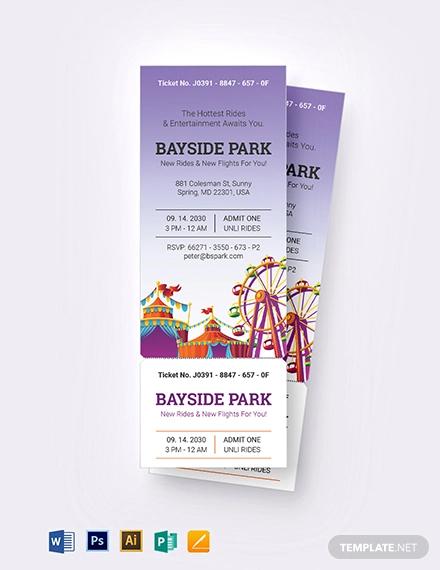 carnival party ticket invitation