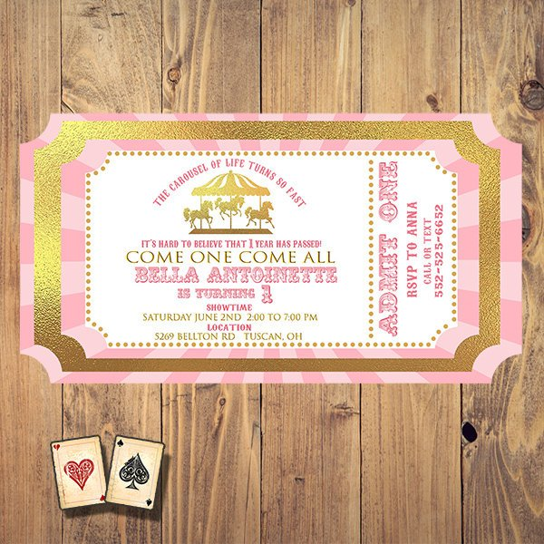 carousel of time carnival ticket example