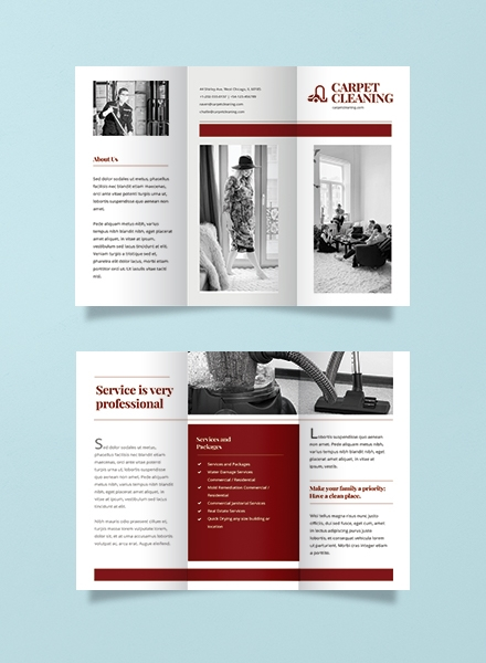 carpet cleaning advertising brochure template