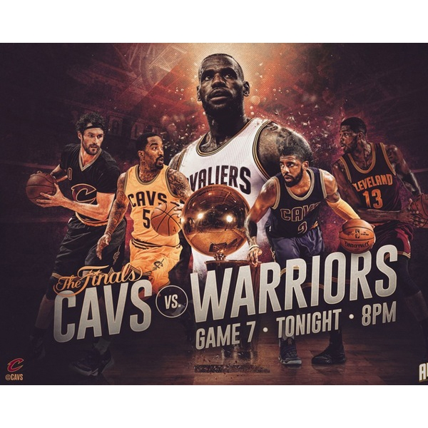 cavaliers warriors sports poster