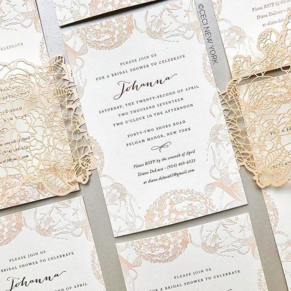 ceci couture design bridal shower invitation