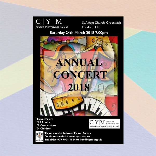 centre for young musician annual concert flyer