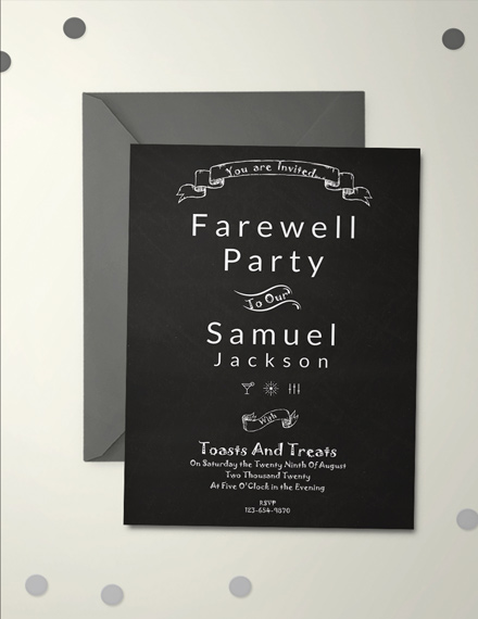 Chalkboard Farewell Party Invitation Template