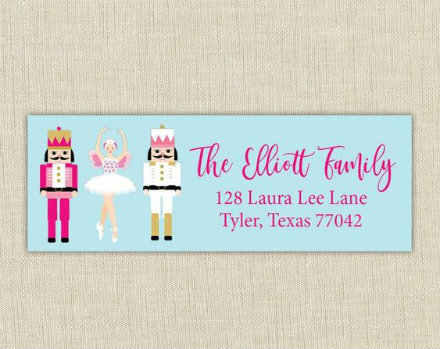 Christmas Family Address Label