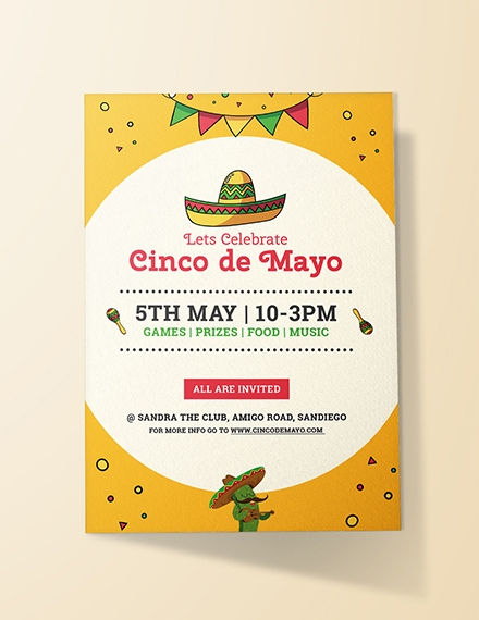 cinco de mayo day invitation design
