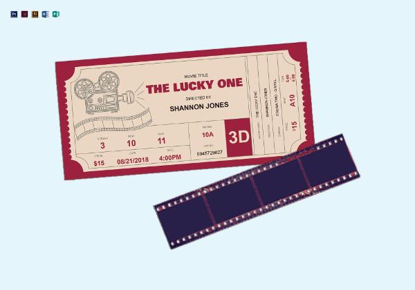 cinema ticket template example