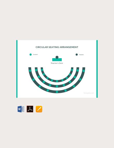 circular seating arrangement classroom