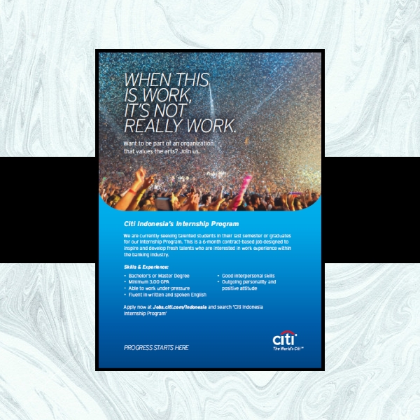 citibank internship business flyer