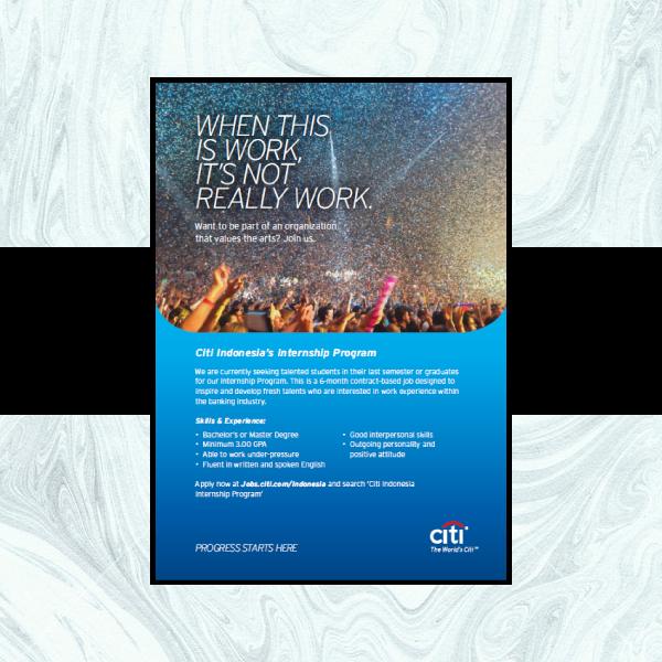Citibank Internship Business Flyer