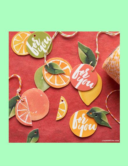 citrus gift tag