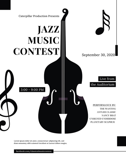 Classical Music Concert Flyer Sample