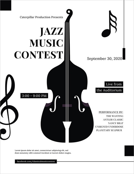 classical music concert poster template1
