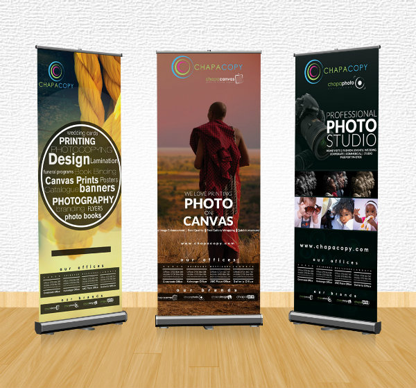 clear roll up banner example