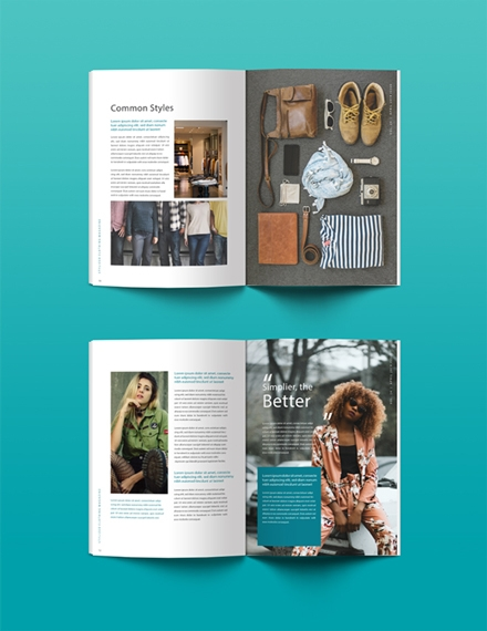 Clothing Magazine Template