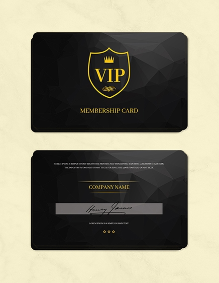 Club Membership Card Template