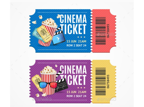 colorful cinema ticket example1