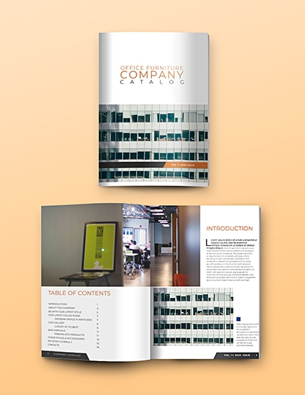 company catalog template