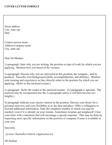 company cover letter