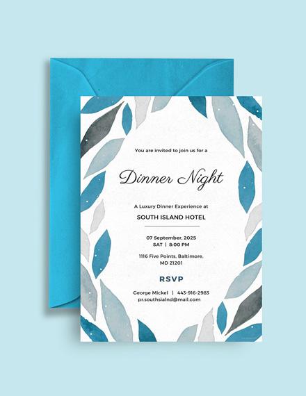 company dinner invitation template