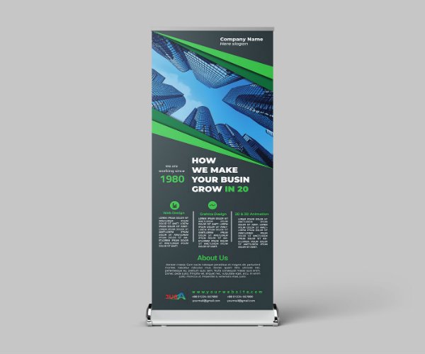 company roll up banner example