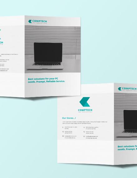 computer service bi fold brochure template example